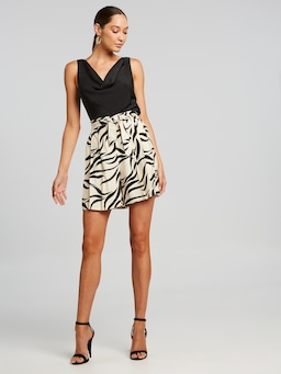 High Waisted Zebra Short