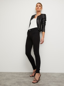 Falling In Love Crop Leather Jacket