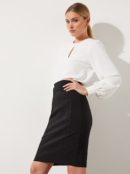 Brooklyn Panelled Long Skirt