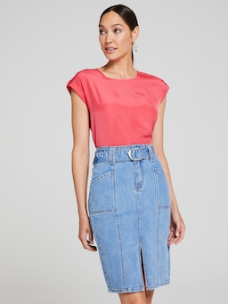 Mia Midi Denim Skirt
