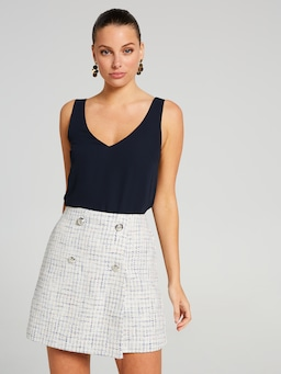 Take The Lead Boucle Skirt