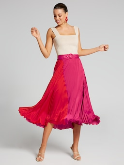 Colour Me Up Pleated Skirt
