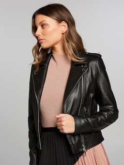 Idolise Leather Biker Jacket