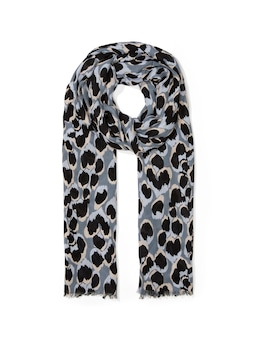 Painted Ocelot Twill Scarf