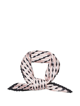 Soft Stripe Pleat Neckerchief