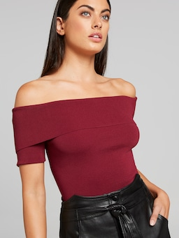Olive Off The Shoulder Milano Top