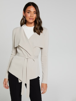 Waterfall Cropped Milano Cardigan