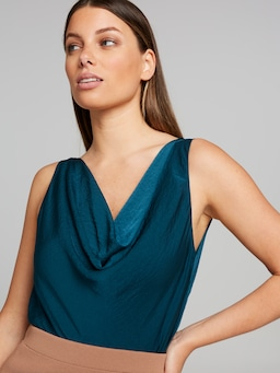 Tina Cowl Neck Satin Cami