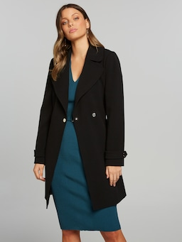 Bella Top Stitch Coat