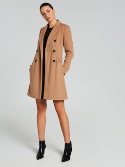 Willow Double Breasted Crombie Coat