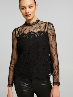 Victoriana Lace High Neck Top