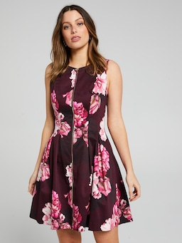 Fusion Floral Fit & Flare Dress