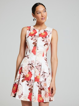 Gardenia Floral Fit & Flare Dress