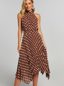 Meredith Pleated Midi Dress