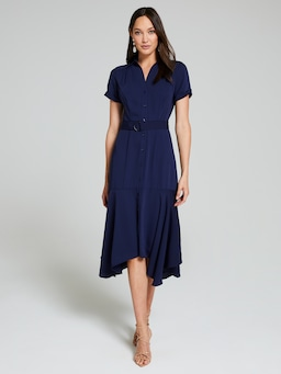 Lucy Collared Midi Shirt Dress