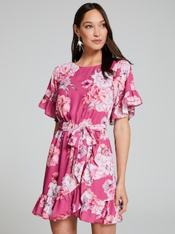 Samara Frill Sleeve Dress