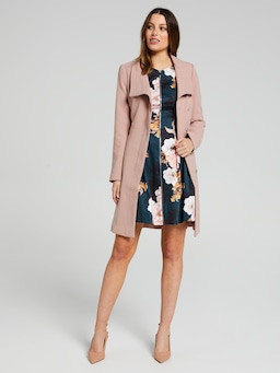 Winter Day Botanical Fit & Flare Dress