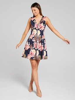 French Blooms Fit & Flare Dress