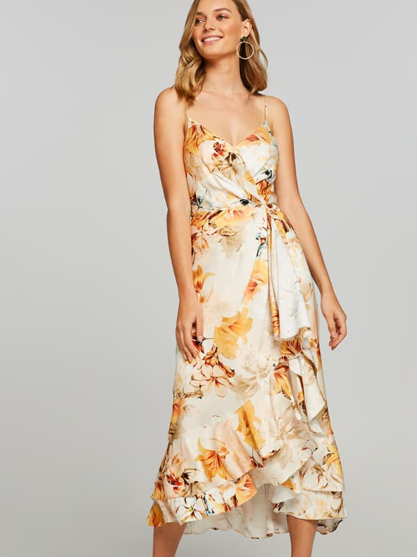 Golden Garden Midi Dress