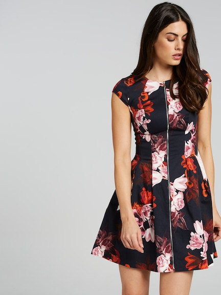 Standout Botanical Fit & Flare Dress