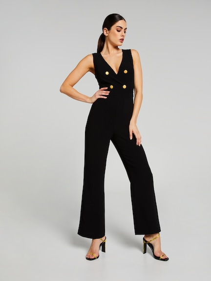 Forever Yours Button Jumpsuit